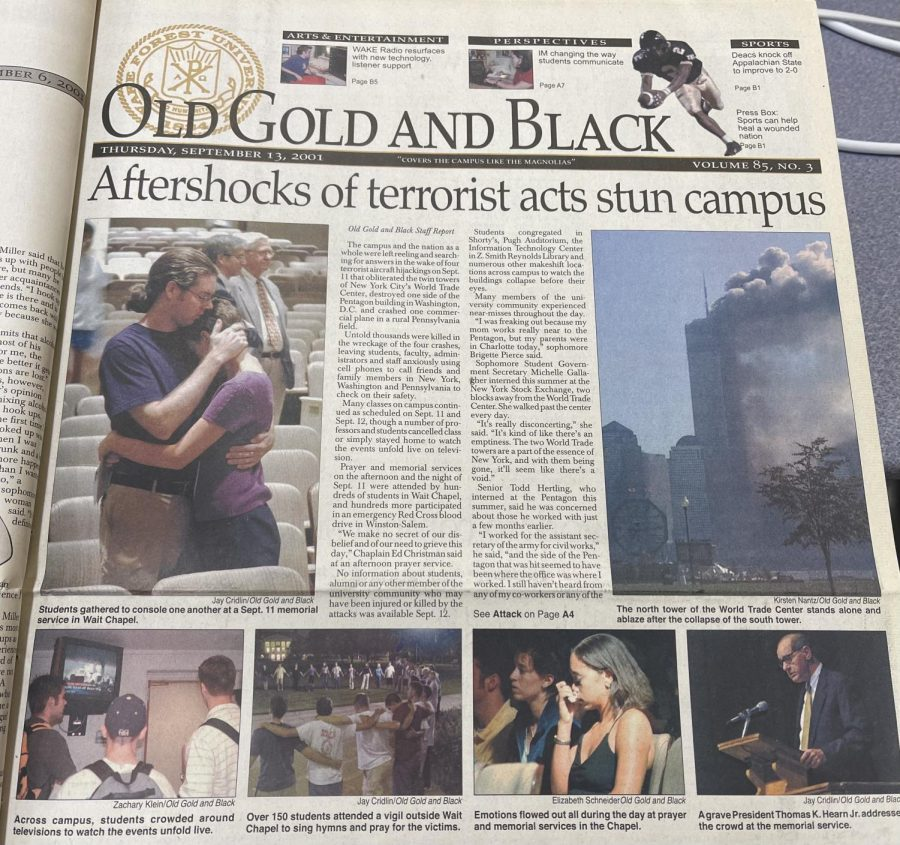 The+Old+Gold+%26+Black%E2%80%99s+September+13+issue+featured+extensive+coverage+of+the+attacks+and+aftermath+on+campus.