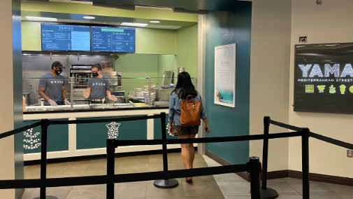 Yamas, the latest addition to the Benson food court, replaces Moes and features a Mediterranean cuisine unavailable elsewhere on campus.