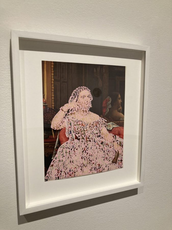"""""""Women Words (Ingres #3)"""" by Betty Tompkins explores the concept of third wave feminism."""