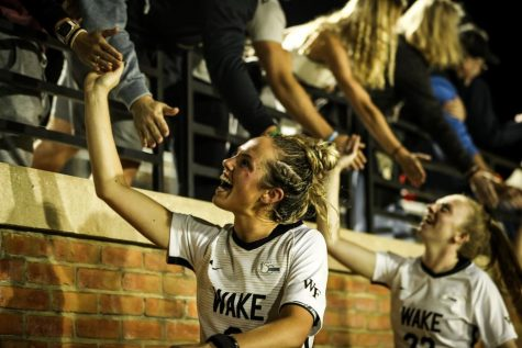 Wake Forest had two key ACC wins last week. A goal from Giovanna DeMarco against NC State on Oct. 21 lifted the team to a 1-0 win.